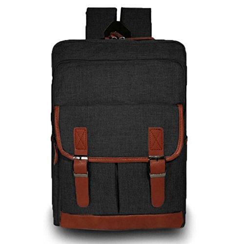 JUND Oxford-Gewebe Unisex Daypack Business Laptop Rucksack Einfarbig Schultasche Jungen Schule Notebook Backpack Wasserdicht Reiserucksack Schwarz Y3ih3VeP