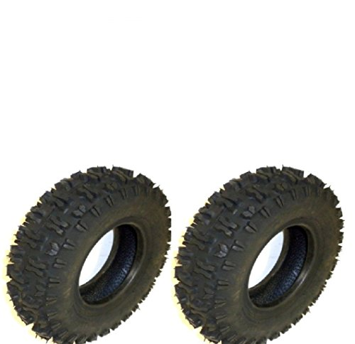 (2 Pack) 8007 Rotary Snow Hog 410x6 Tubless Tires 2 Ply Replaces Carlisle