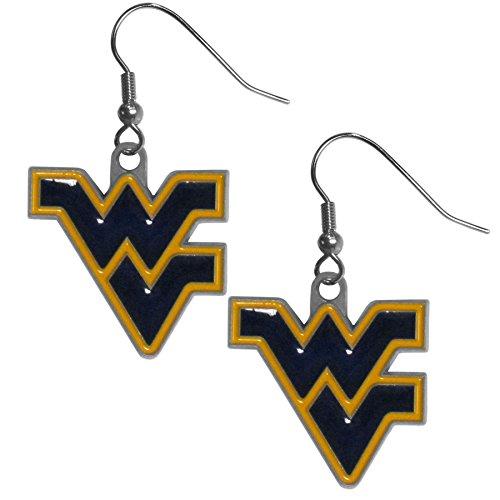 NCAA West Virginia Mountaineers Dangle Earrings (Light West Virginia)