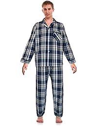 RK clásica Pijamas de los hombres broadcloth Woven Pajama Set,