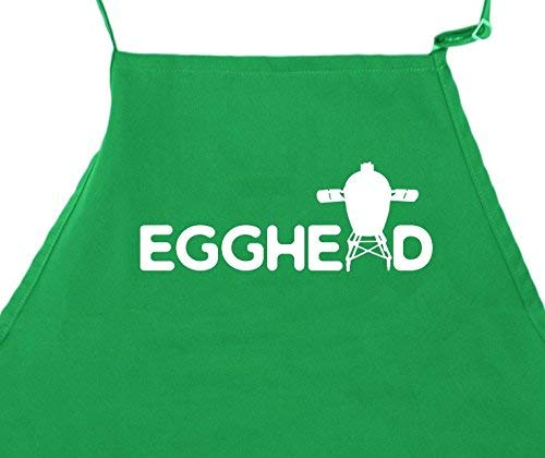 Funny BBQ Apron for Men Barbeque BGE Grilling Dad Aprons With Pockets Big Green Egg Accessory Egghead