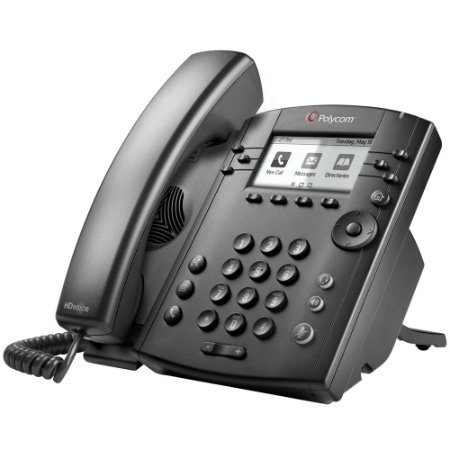 Polycom VVX 301 Corded Business Media Phone System - 6 Line PoE - 2200-48300-001 - AC Adapter (Included) (Renewed)