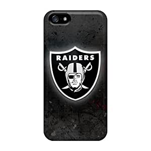 Best Hard Phone Cover For Iphone 5/5s With Custom Colorful Oakland Raiders Series KaraPerron