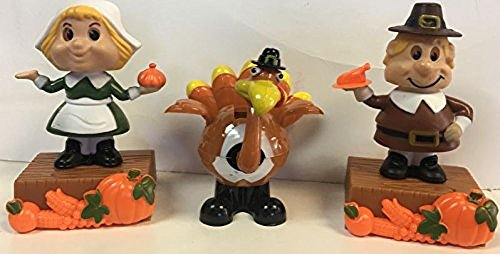 Price comparison product image Thanks giving Solar Powered Dancing Assorment--1 Turkey and 2 Pilgrams