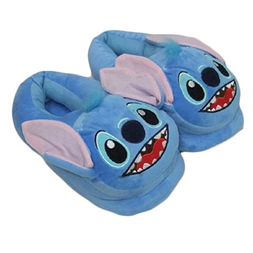 [Newest] Lovely Lilo Stitch Slippers Warm Soft Shoes Homewear for Men Women Stitch Full,Shoes Length:28cm/11.03