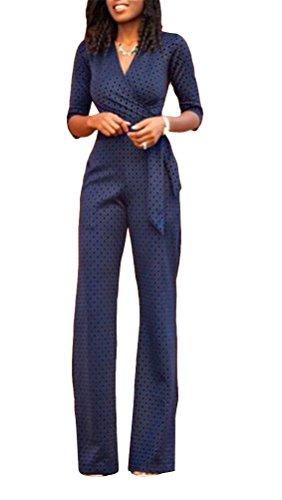 Brinny Femme vêtement sexy femmes V-col chemise Pantalon longue