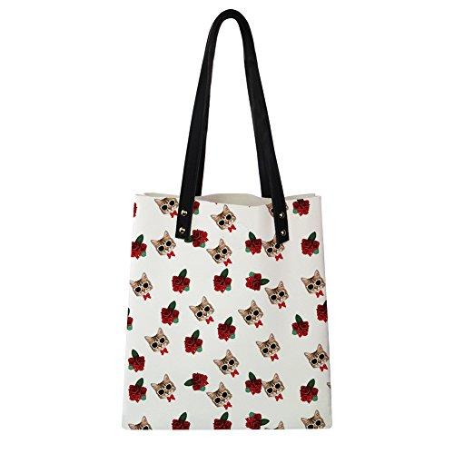 Advocator Stilvolle Print PU Leder Tasche mit Brieftasche für Frauen Casual Reise Handtasche Lehrer Totes Tasche Strand Totes für Mädchen Color-8