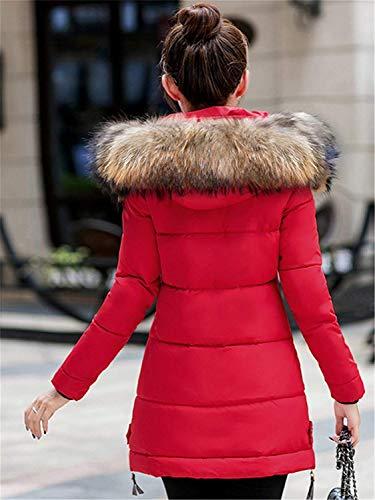 Con Parka Fashion Pelliccia Cappuccio Caldo Vita Libero Piumini Alta Rot Outdoor Cappotti Maniche Lunghe Invernali Costume Addensare Sottile In Forti Lunghi Eleganti Tempo Taglie Huixin Donna q6WpBnwt