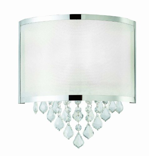 Bellacor Crystal Sconce (Canarm IWL435A01CH Reese 1-Light Wall Sconce)
