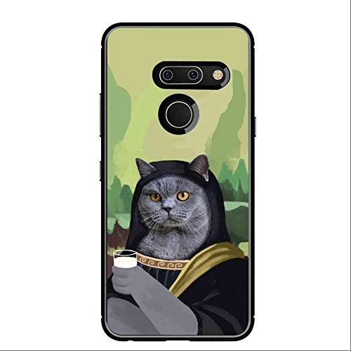 Mona Lisa Cat Phone Case Fits for LG G8 ThinQ (2019) (6.1in)
