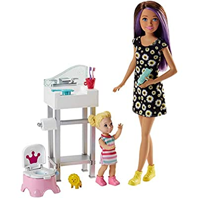 Barbie Skipper Babysitters Inc. Potty Training Playset: Toys & Games