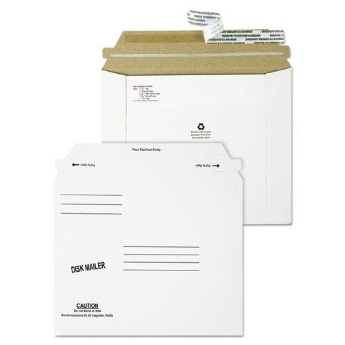 - Redi-Strip Economy Disk Mailer, 7 1/2 x 6 1/16, White, Recycled, 100/Carton, Sold as 1 Carton, 100 Each per Carton