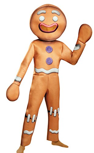 Disguise Men's Shrek Gingy Deluxe Costume, Brown, X-Large (Shrek Halloween Costumes)