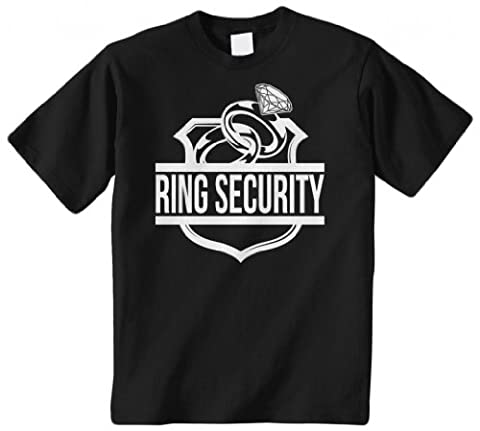 Threadrock Big Boys' Ring Security (Ring Bearer) Youth T-Shirt L Black
