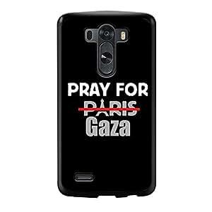 GEBLEG-Pray For Paris Gaza LG G3 Cases Hard Plastic Material with Black Frame