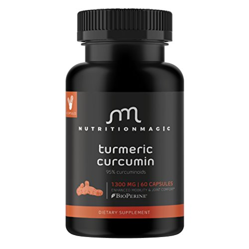 Turmeric Curcumin Capsules ★ 100% MONEY BACK GUARANTEE ★ - with BioPerine Black Pepper Extract, Aids Absorption - Without This it Wont Work.60 Veggie 650mg Turmeric Supplement, 95% Curcuminoids