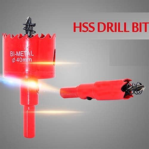 M42 16-200mm HSS Steel Drilling Hole Saw Drill Bit Cutter Bi-Metal for Aluminum Iron Stainless Steel DIY Wood Cutter Drill Bits (Hole Diameter : 100mm)