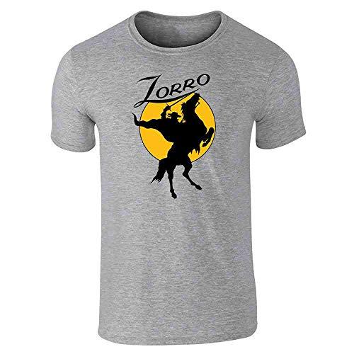 Pop Threads Zorro Moon Logo Halloween Costume Retro Gray XL Short Sleeve T-Shirt