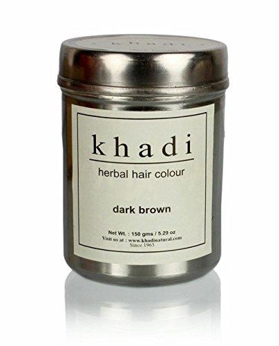 Price comparison product image Khadi Natural Herbal Hair Color Dark Brown Latest International Packaging (150 g)