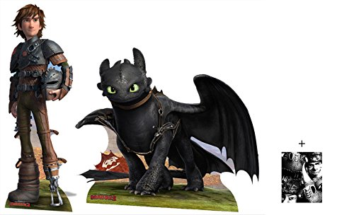 Fan Pack - Hiccup and Toothless from How To Train Your Dragon 2 Cardboard Cutout / Standee / Standup Double Pack- Includes 8x10 Star Photo by (Starstills UK) Fan Packs