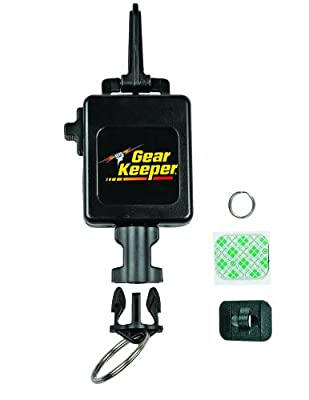 "Gear Keeper RT3-4524 Hanging Scanner Tether with Snap Clip Mount, 80 lbs Breaking Strength, 24 oz Force, 32"" Extension"