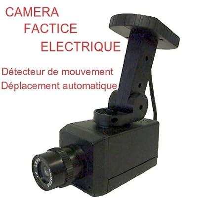 Cámara falsa Venteo eléctrico-Detector de movimiento con indicador luminoso, color rojo