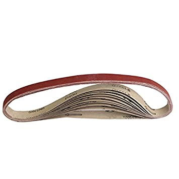 Cinturones abrasivos de lija 5 unidades, 1800 x 50 mm, grano 40-1000 ChenXi Shop