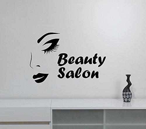 Beauty Salon Window Sign Vinyl Decal Sticker Beautiful Woman Face Wall Art Decorations Parlor Shop Mirror Make Up Studio Decor beauty5 -