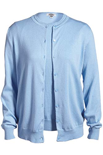 Edwards Ladies' Corporate Performance Twinset Sweater Large Sky Blue