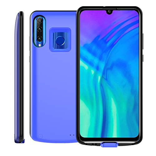 (Happon Battery Case Compatible for Huawei Honor 10i Honor 20i - Charging Case Battery for Huawei Honor 10i Honor 20i Rechargeable Battery Backup Portable Charger Case - Blue)