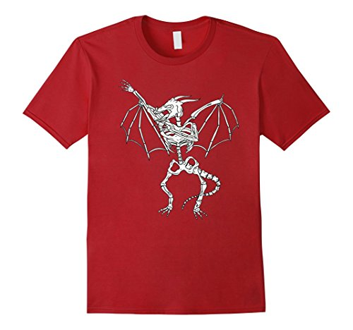 Red Dancing Girl Emoji Costume (Mens Dabbing Skeleton Demon Halloween T-shirt for Adults & Kids 2XL Cranberry)