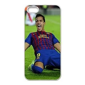 iPhone 5 5s Cell Phone Case White FC Barcelona Alexis Sanchez Iryjl