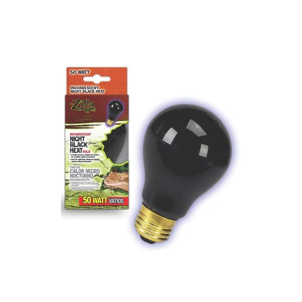 Zilla Night Black Heat Incandescent Bulb for Reptiles [Set of 2] Watt: 100 Watts 1