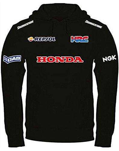 Nera Personalizzata Honda Felpa Cappuccio Con Iqw646