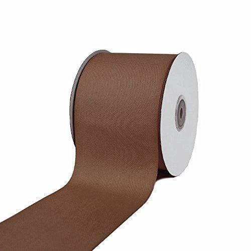 Ben Collection 3 Inch X 25 Yard Grosgrain Plain Ribbon Party, Wedding Favor Crafting Ribbon (Brown) ()