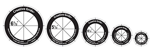 (Creative Grids Quilt Ruler Circles (5 Discs with Grips))