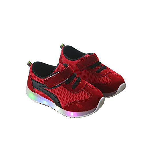 unyielding1 Kids LED Light up Shoes Casual Sneakers Boys Girls