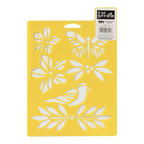 Delta Creative 960010006 Butterflies and Flowers Everyday Design Stencil