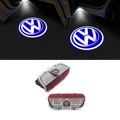LIKECAR 2 Pcs Car Door Logo Projection Ghost Shadow Light Welcome Lamp Light For VW