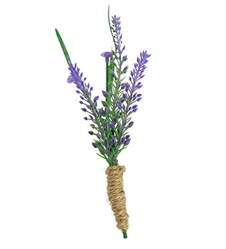 Lavender Artificial Boutonniere- Faux Silk Rustic Boutonniere