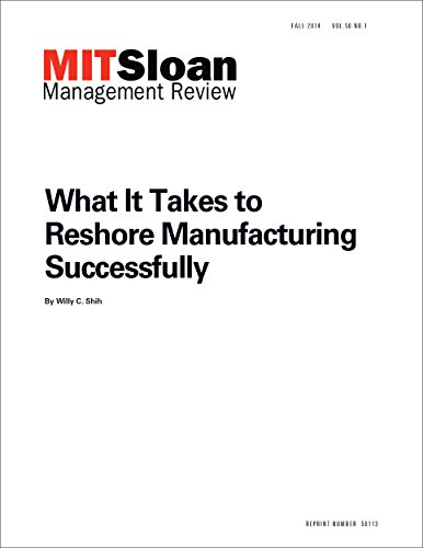 What It Takes to Reshore Manufacturing  Successfully - Journal Article