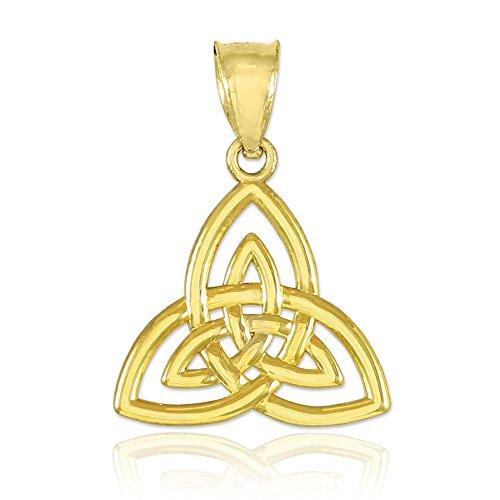 Celtique Pendentifs Femme Or 10K celtique Pendentif noeud celtique Pendentif