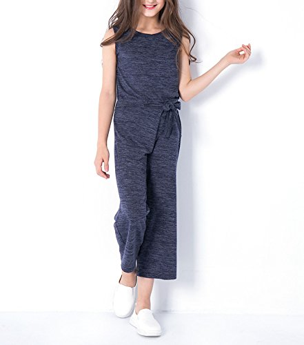 Zcaosma Teen Girls Clothing Two-Piece Girls Outfit Tops Pants Girls Clothing Set,Gray,6 by Zcaosma (Image #2)