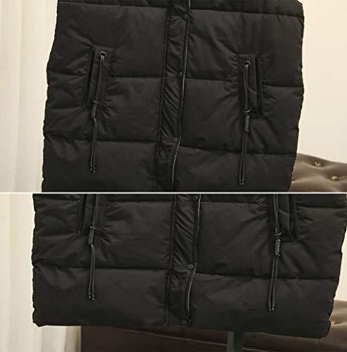 Femme Grande À Keep Hiver Femme Warm Capuchon Jshfd Gilet Taille Mode Veste Noir T6qw0F