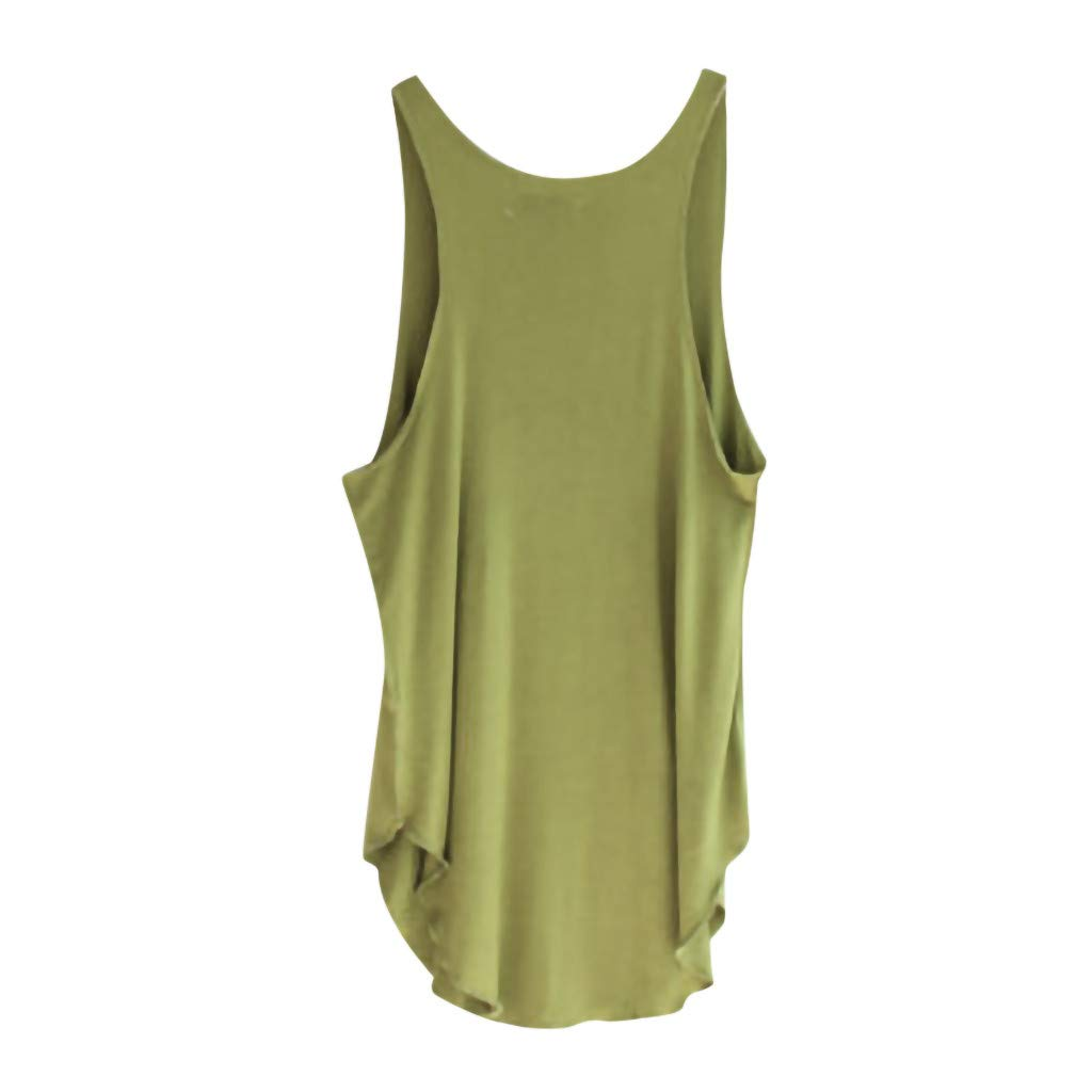 CCOOfhhc Womens Summer Sleeveless V Neck Blouses Solid Color Casual Swing Shirts Loose Tunic Tank Tops