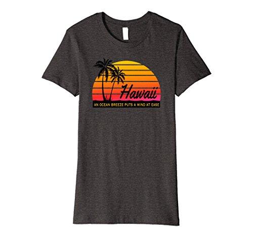 Womens Ocean Breeze Mind At Ease Hawaii Souvenir Beach Tshirt Medium Dark Heather