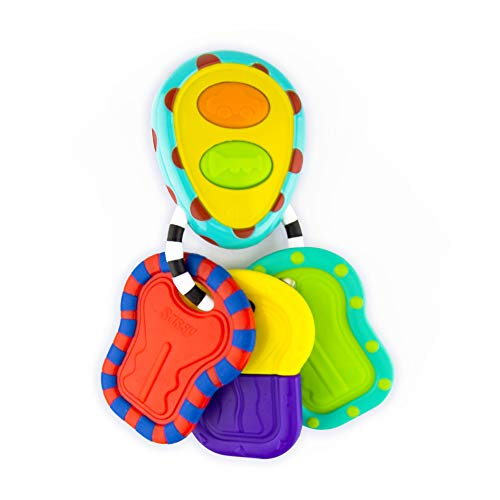 Sassy Electronic Keys | Developmental Toy for Early Learning Promotes Imaginative Play | for Ages 3 Months and - Teething Keys