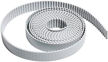 L-TAO-PULLEY Color : 1M , tama/ño : 10mm 1pc XL Tipo Abierto de correas dentadas de poliuretano PU blanco dentada polea de la correa 5.08 mm 10//15//20 mm Ancho de la correa s/íncrona de transmisi/ón