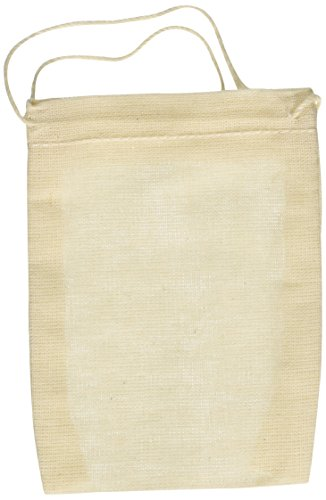 gs 3x4 Inch Drawstring 50 Count Pack (3 Muslin)