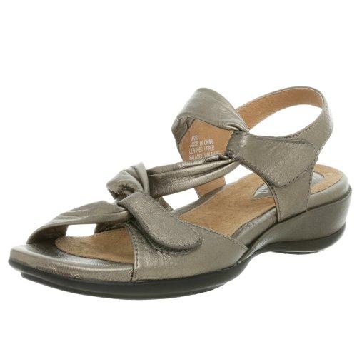 Clarks Women's Lucena Sandal,Pewter Metallic,8.5 XW by CLARKS